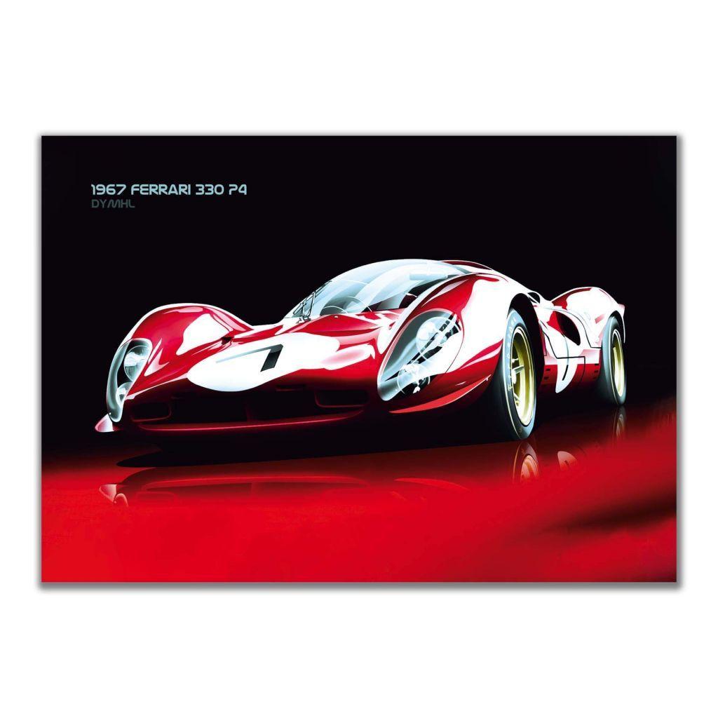 Постеры с автомобилями - Ferrari 330 P4 1967