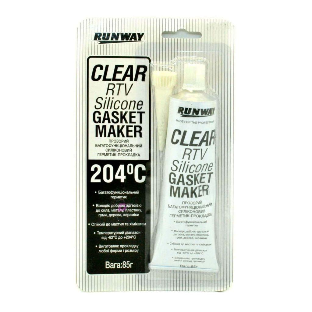 Формирователь прокладок - RUNWAY CLEAR RTV Silicone GASKET MAKER