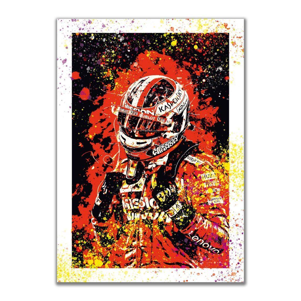 Стильные постеры для интерьера с гонщиком F1 - Charles Leclerc