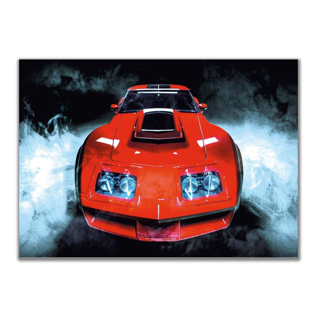 Дизайнерские постеры с автомобилями - Chevrolet Corvette Stingray C3