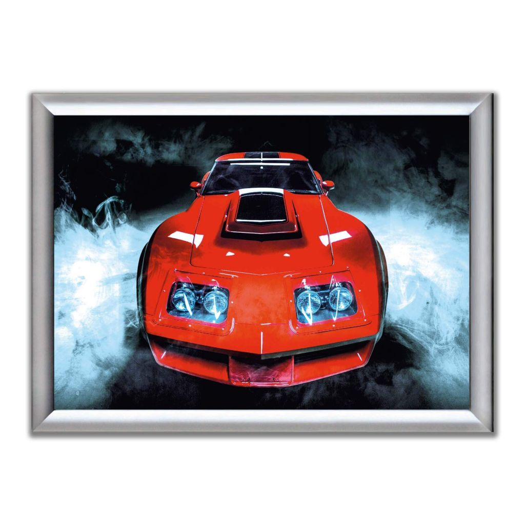 А2 Постер в алюминиевой рамке - Chevrolet Corvette Stingray C3