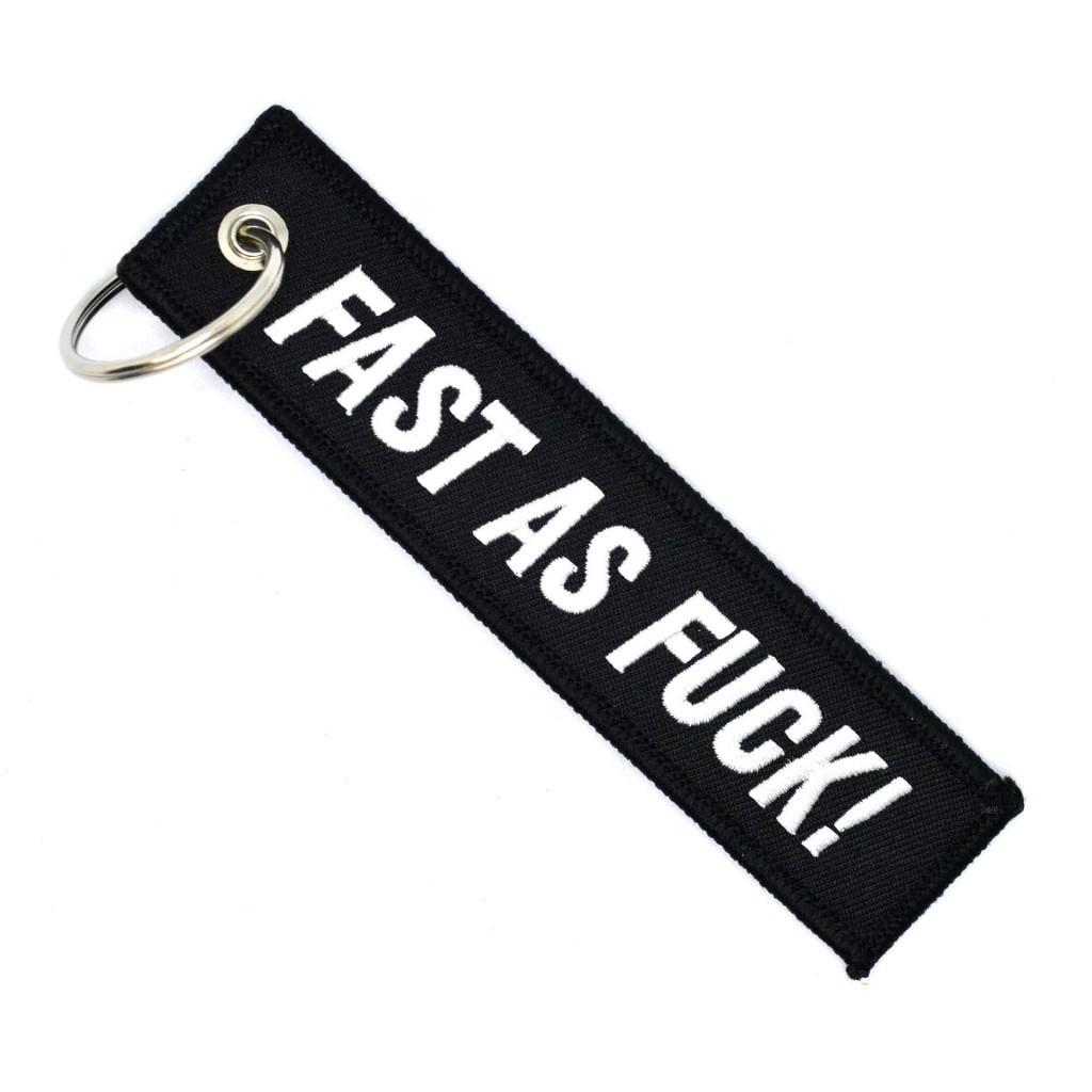 "Брелок-бирка для ключей ""Fast as Fuck"""