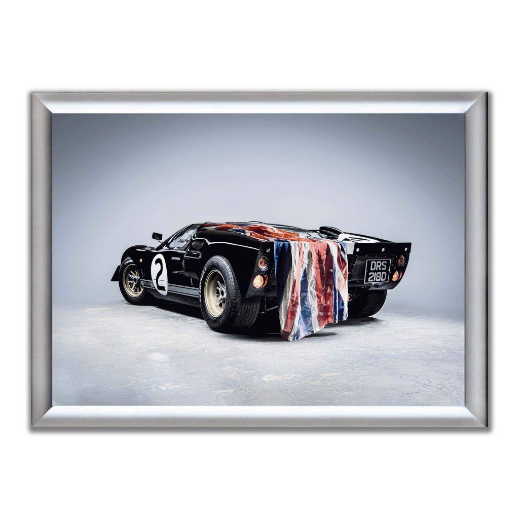 А2 Постер в алюминиевой рамке - Ford GT40 1966