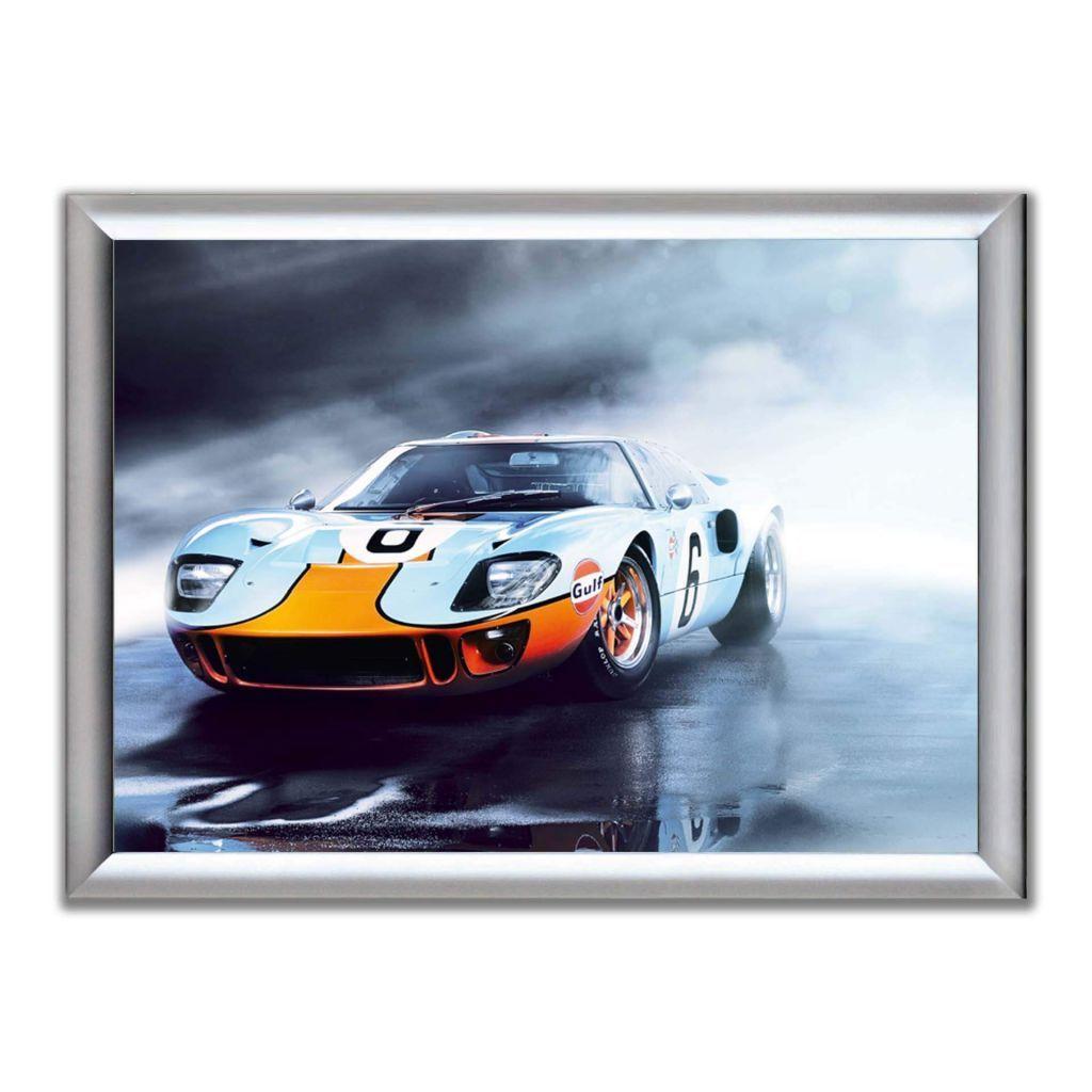 А2 Постер в алюминиевой рамке - Gulf GT40