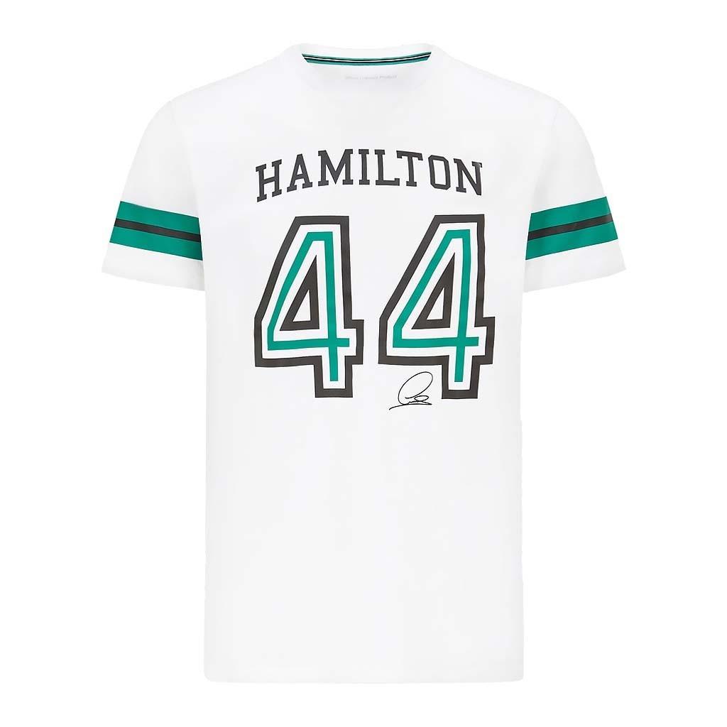 Футболка Lewis Hamilton #44 Mercedes-AMG Petronas 2021 White