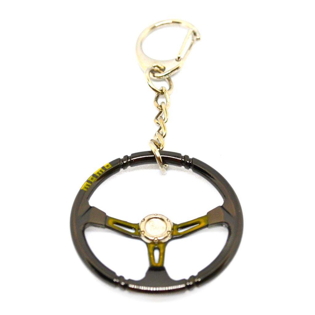 "Металлический брелок руль ""MOMO"" - Желтый"