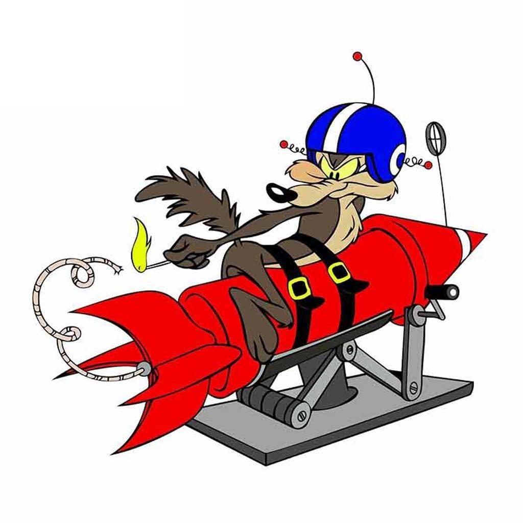 Wile E. Coyote - тут можно купить наклейки на машину, стекло или бампер