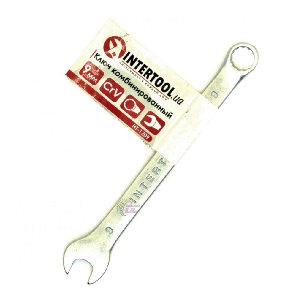 Гаечный рожково-накидной ключ - INTERTOOL HT-1209