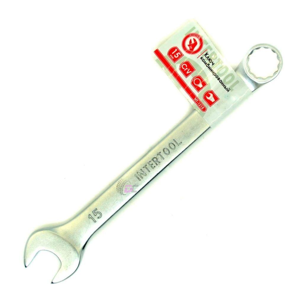 Гаечный рожково-накидной ключ - INTERTOOL HT-1215