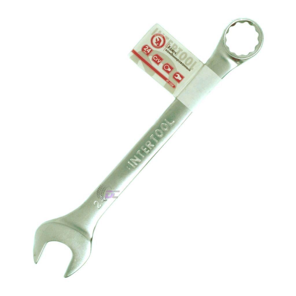 Гаечный рожково-накидной ключ - INTERTOOL HT-1224