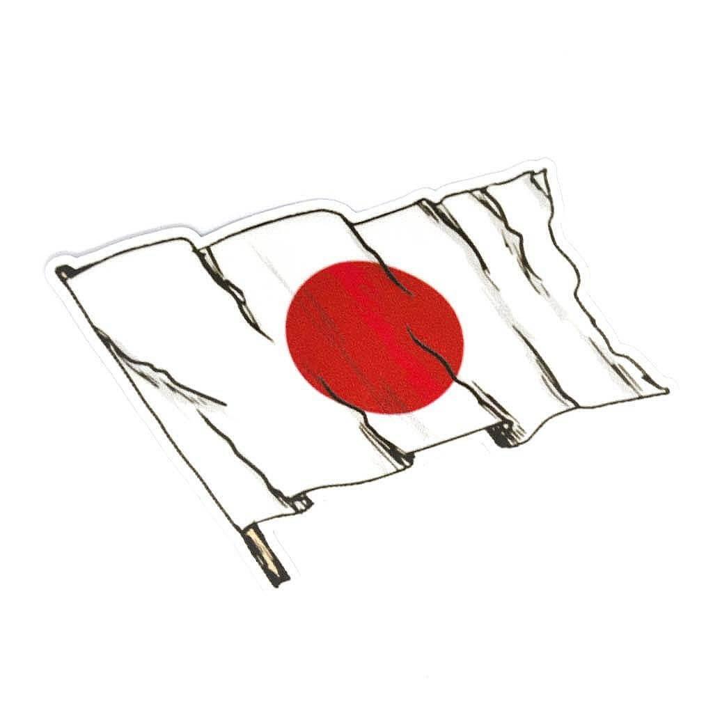 """Качественные наклейки на авто c надписью """"Japanese flag"""""""