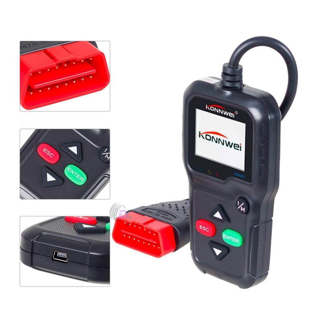 Автомобильный сканер - KONNWEI KW680 - OBDII