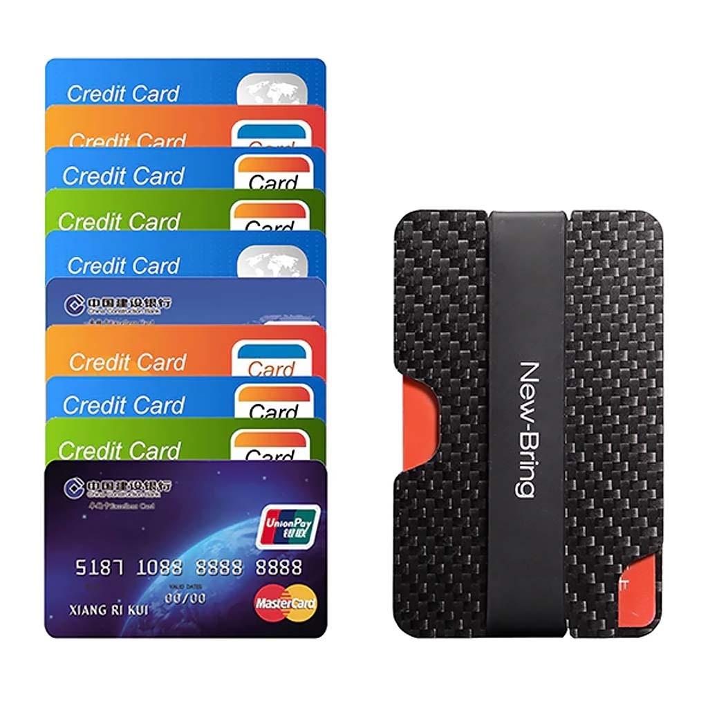 Черный карбоновый кардхолдер для банковских карт с RFID-защитой