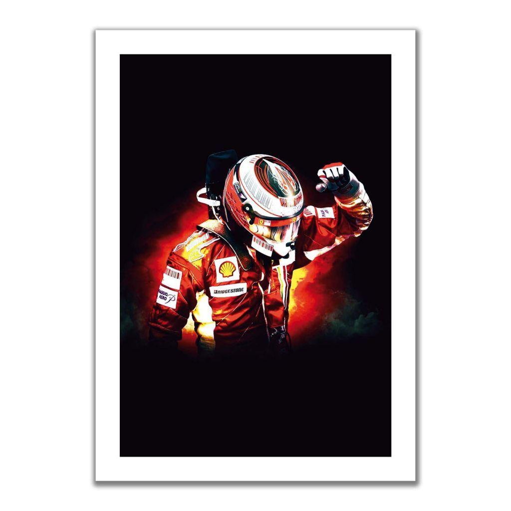 """""""Kimi Raikkonen"""" - Постеры в гостиную с гонщиком F1"""
