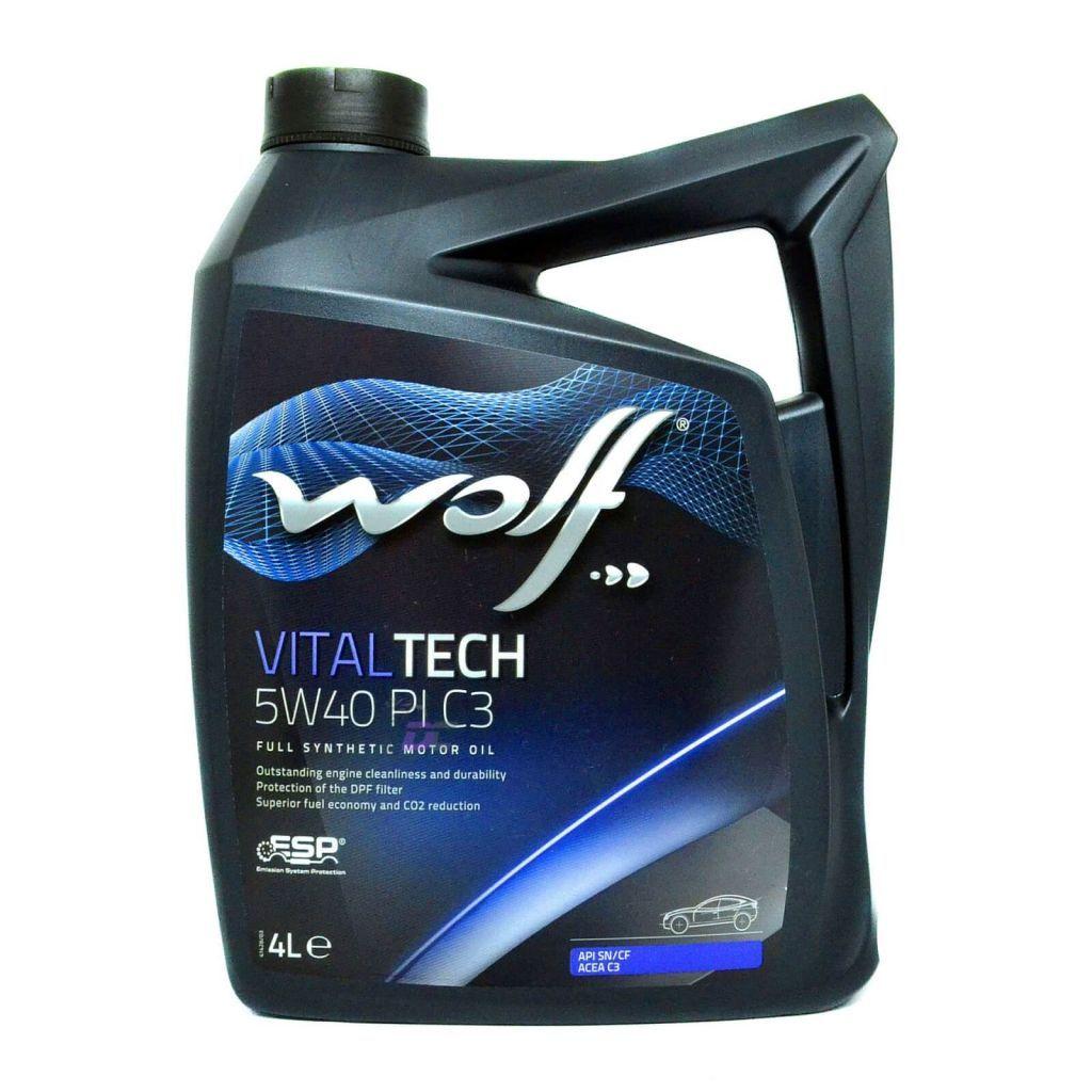 Моторное масло - WOLF VITAL TECH 5W-40 PI C3 4L