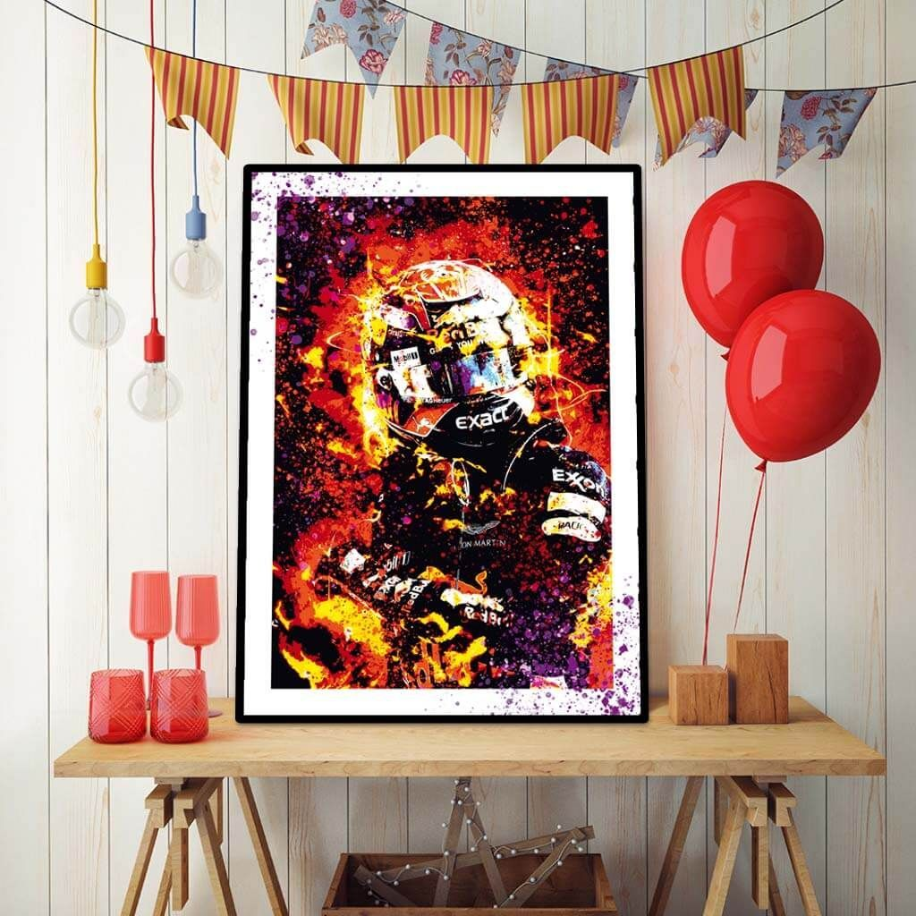 Max Verstappen - Reb Bull - яркие постеры на стену.