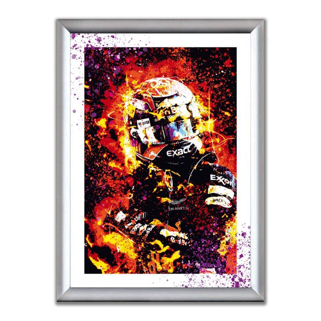 А2 Постер в алюминиевой рамке - Max Verstappen - RebBull