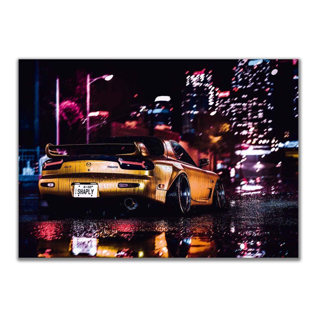 Плакат - Mazda RX7 City Night Lights