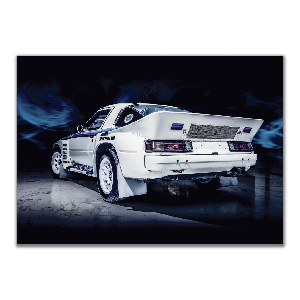 Постер с машиной Mazda RX 7 Group B - отличный подарок гонщику