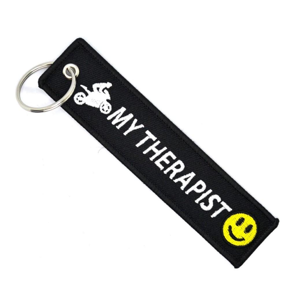 """Брелок-бирка для ключей """"Moto My Therapist"""""""