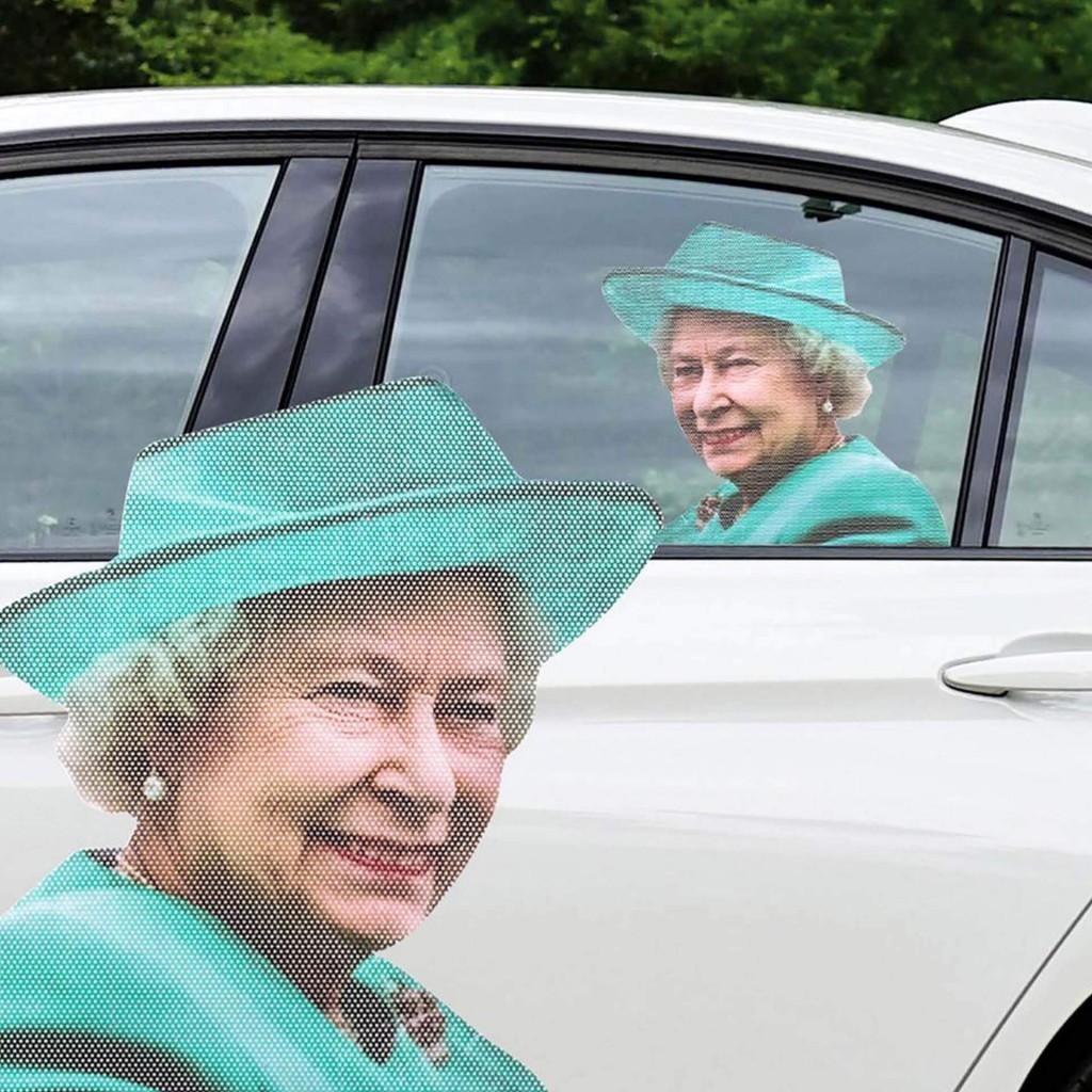 """""""Королева Елизавета"""" - наклейка на боковое окно авто, с 3D эффектом"""