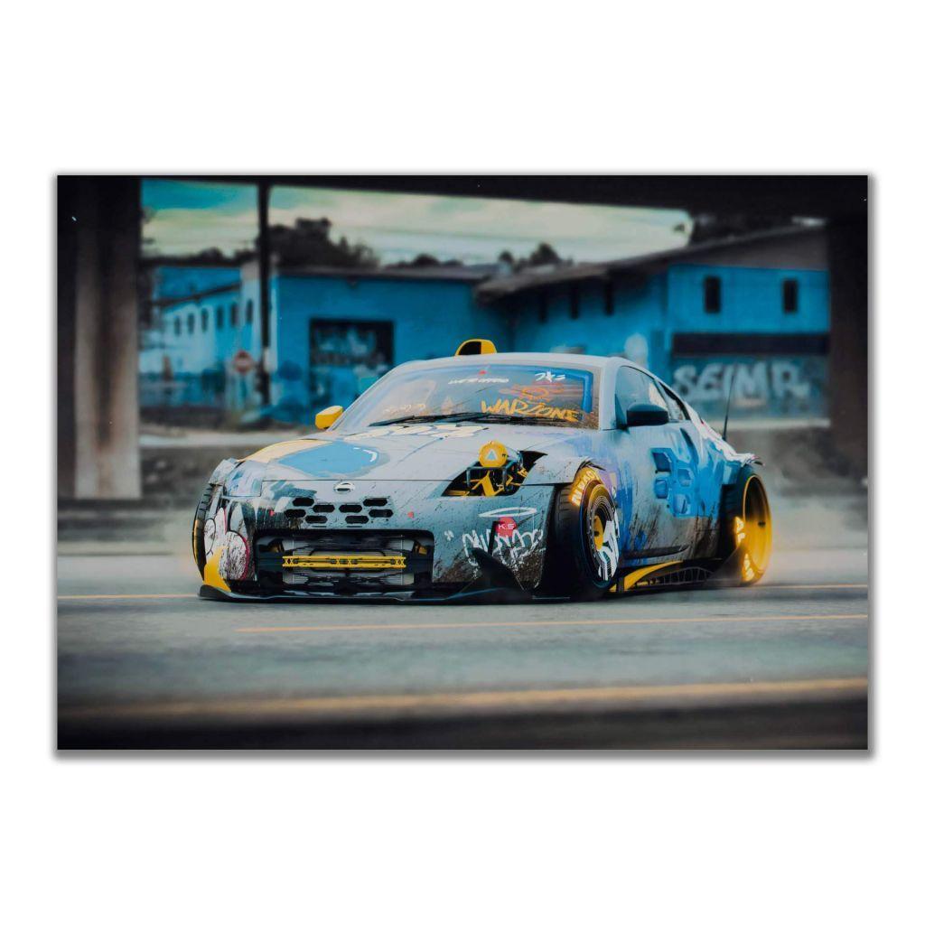 """Постеры и плакаты на стену с """"Nissan 350z WarZone"""", для интерьера"""