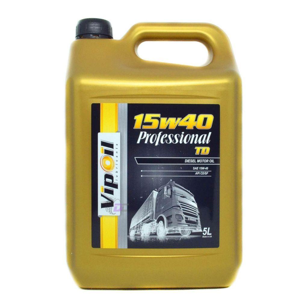 Моторное масло - VipOil Professional 15W-40 TD 5L