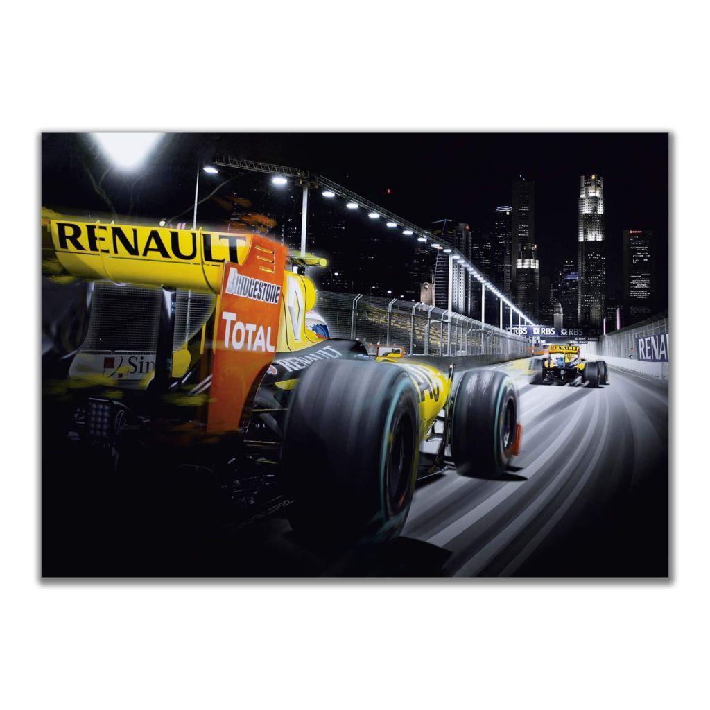 Купить постеры с машинами Renault Sport Formula One Team на стену