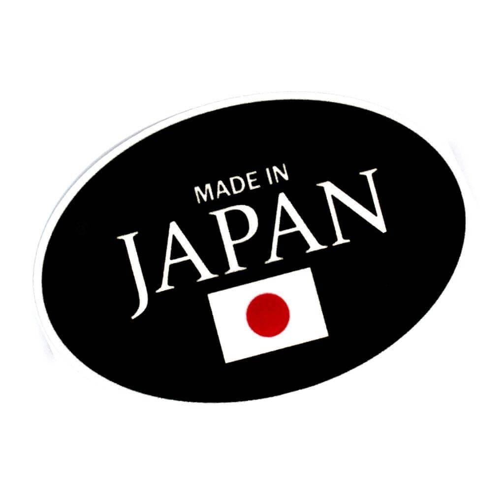 """Качественные овальные наклейки на авто c надписью """"Made in Japan"""""""