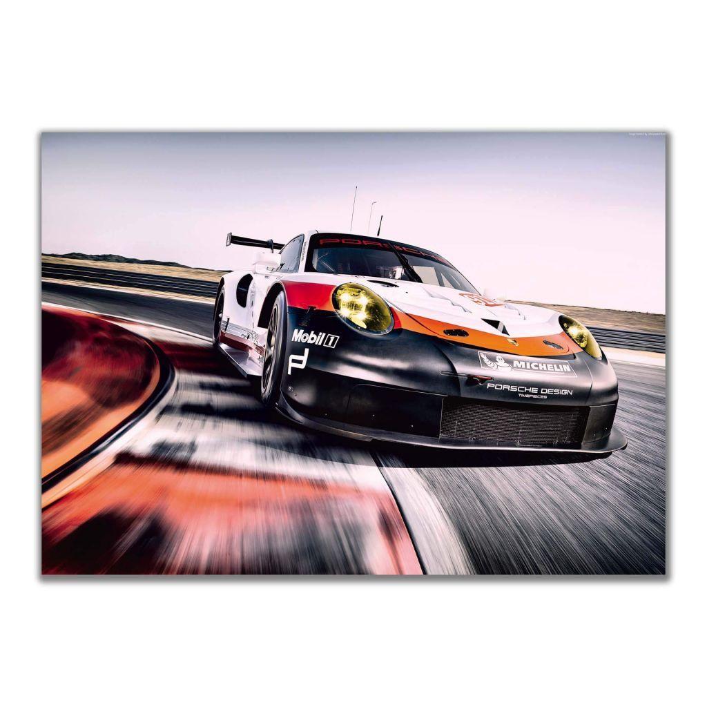 Постер большого размера с гоночным болидом Porsche 911 RSR GT3