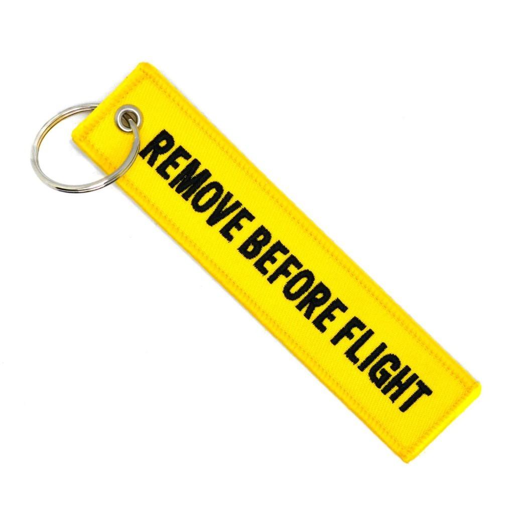 """Брелок-бирка для ключей """"Remove Before Flight"""""""
