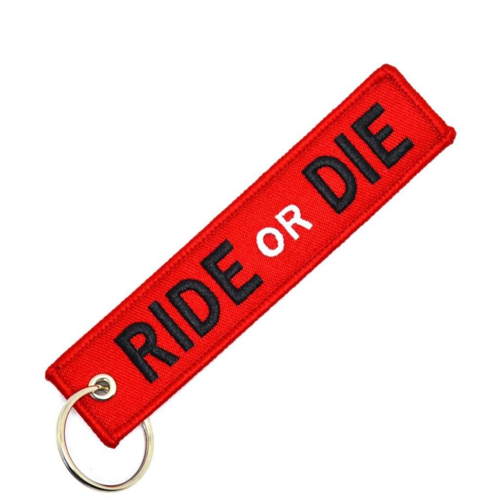 """Брелок-бирка для ключей """"Ride or Die"""". Крутой и стильный"""