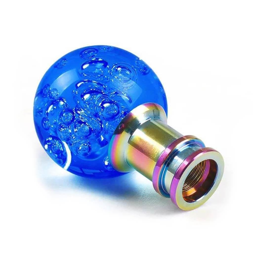 "Декоративная тюнинг-ручка КПП - ""Синий акриловый шар Bubble"""