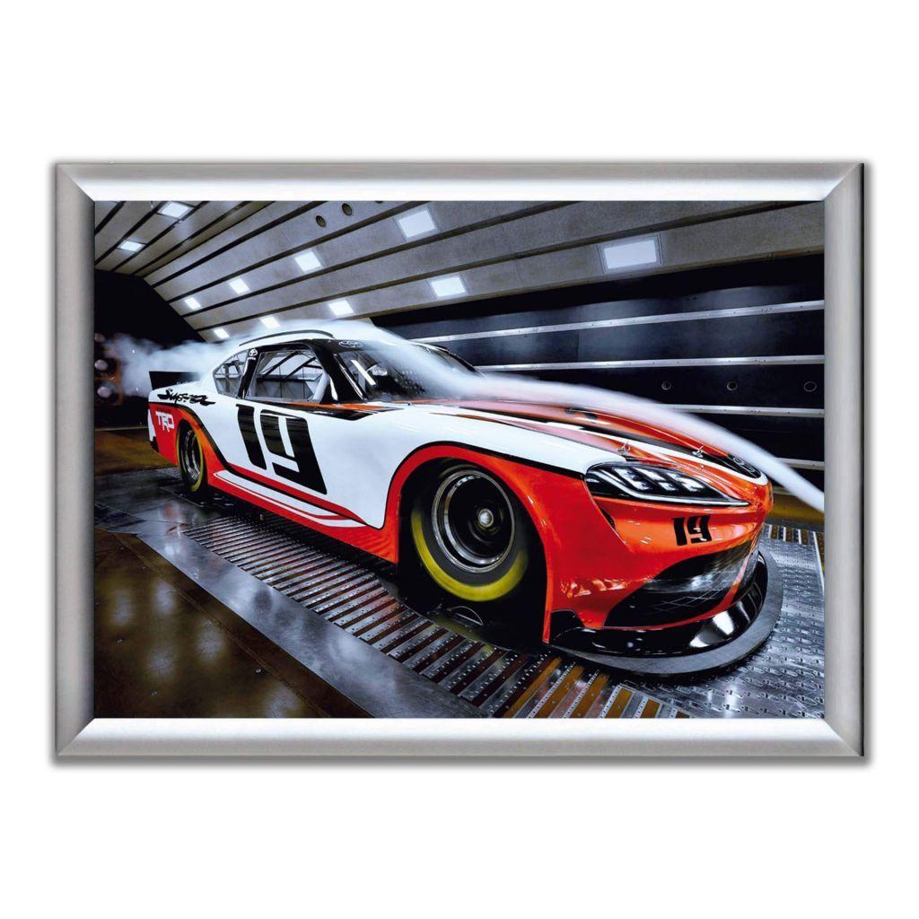 Постер на стену с гоночной машиной - Toyota Supra NASCAR Xfinity series (2019) - В рамке
