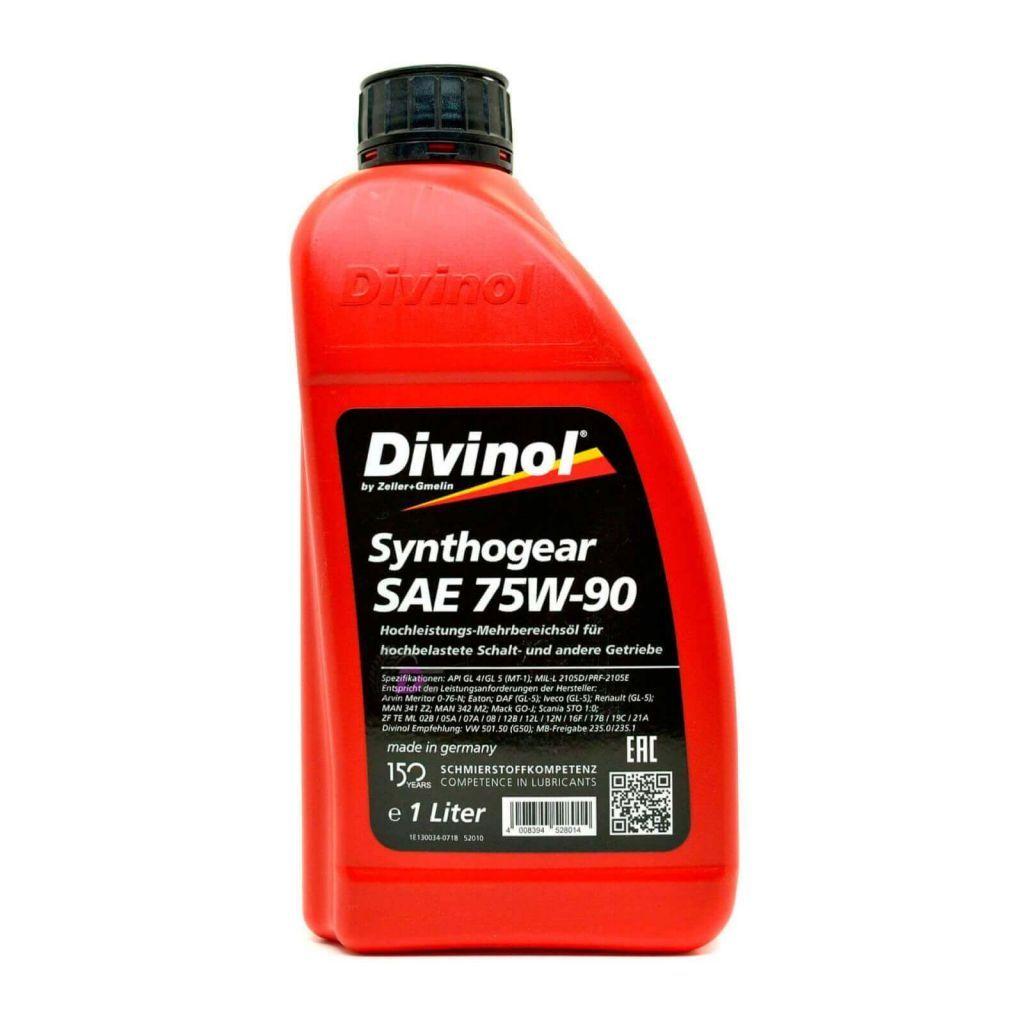 Трансмиссионное масло - Divinol Synthogear 75W-90 1L