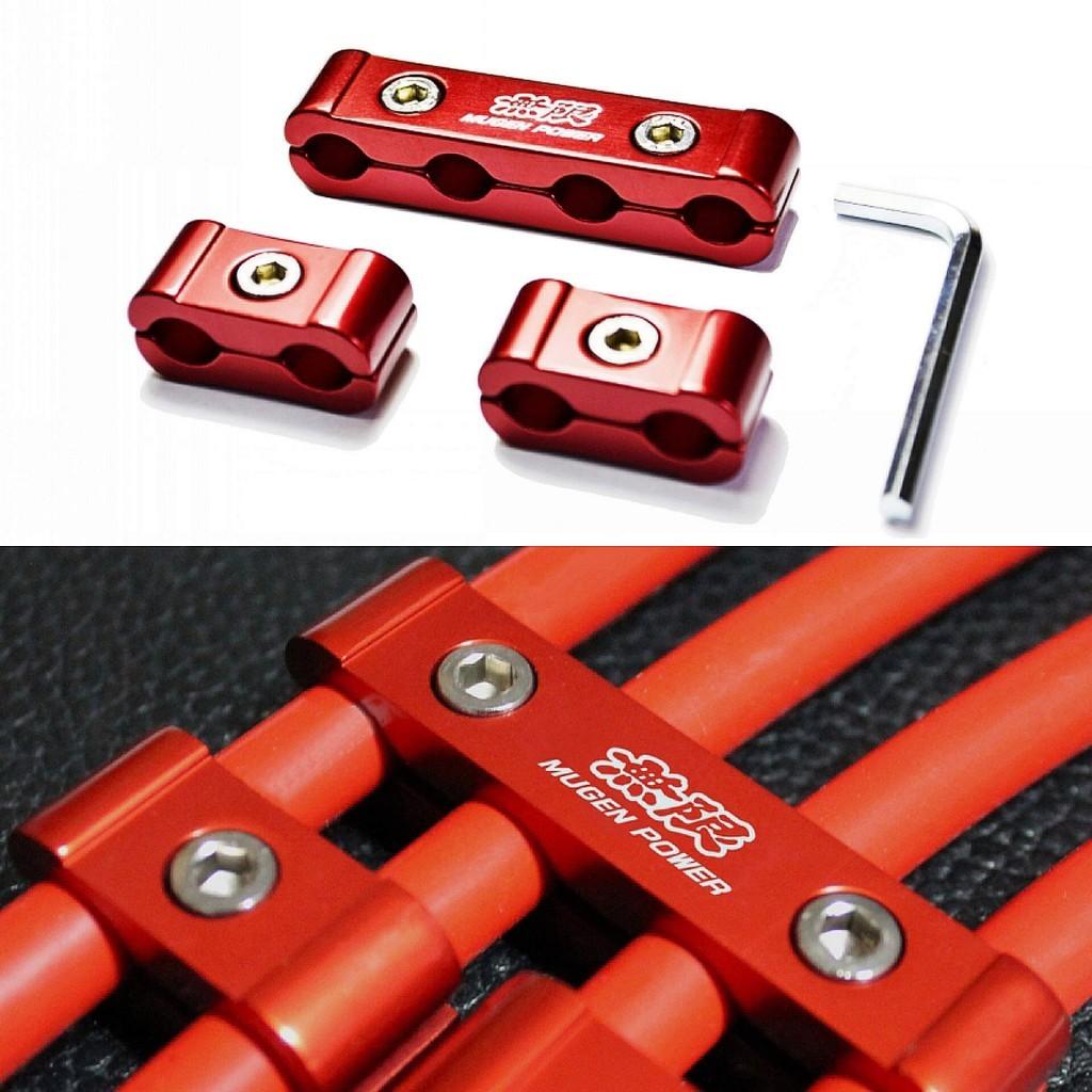 Зажимной сепаратор провода свечей зажигания и накала - MUGEN. Красный