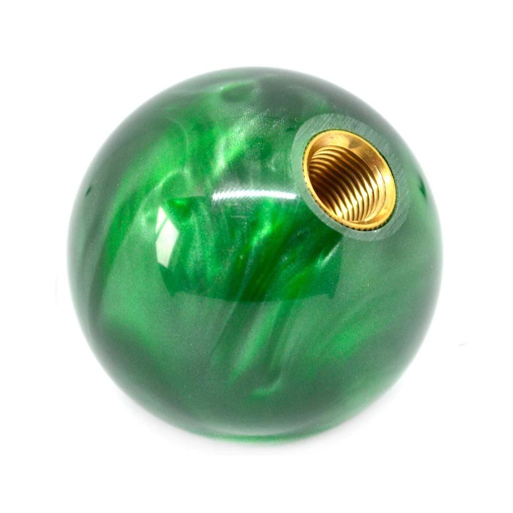 "Ручка КПП ""Шар"". Зеленый аксессуар с мистическим узором"