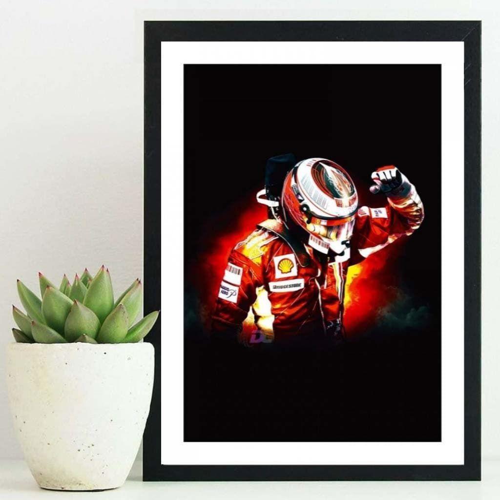 """""""Kimi Raikkonen"""". Постеры в гостиную с пилотом F1."""