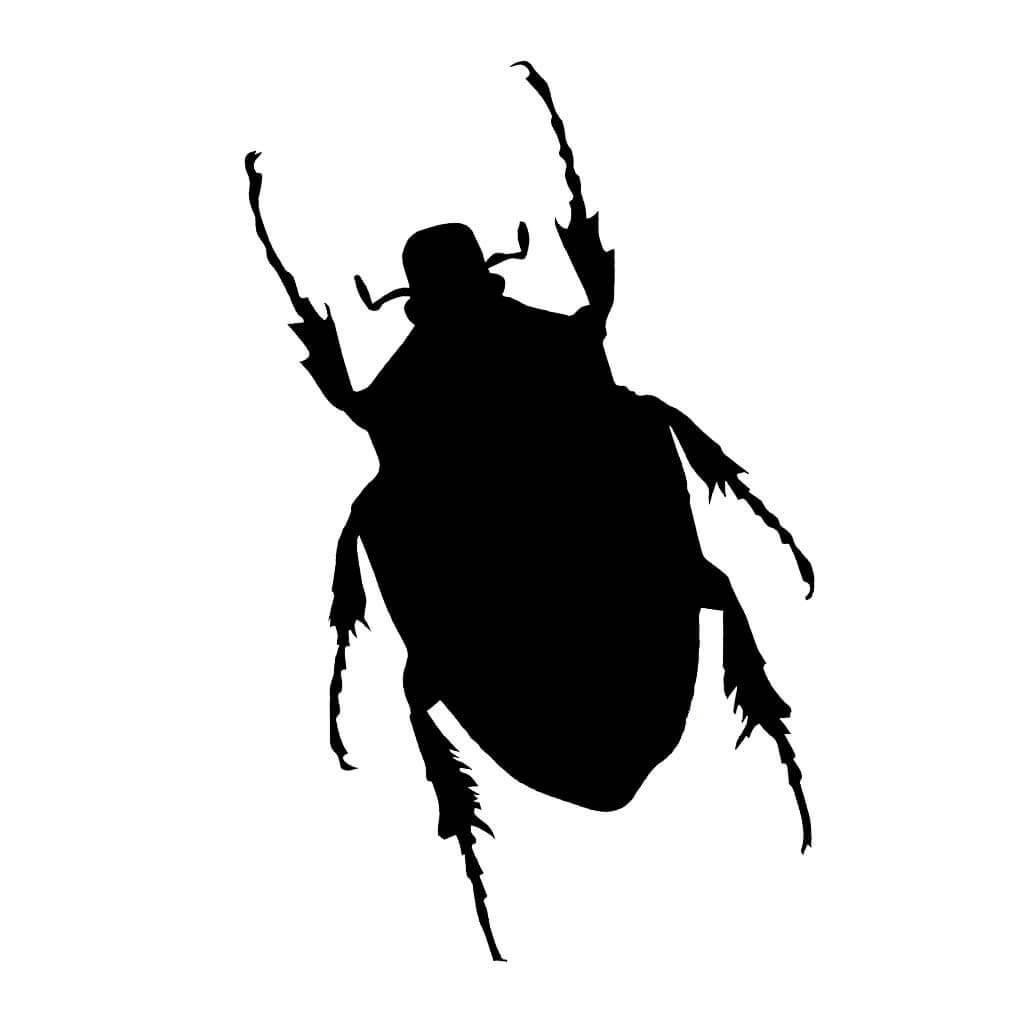 """Качественные наклейки на авто c изображением жука """"BUG"""""""