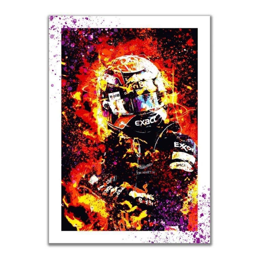 """""""Max Verstappen - Reb Bull"""" - Яркие постеры на стену с гонщиком F1"""