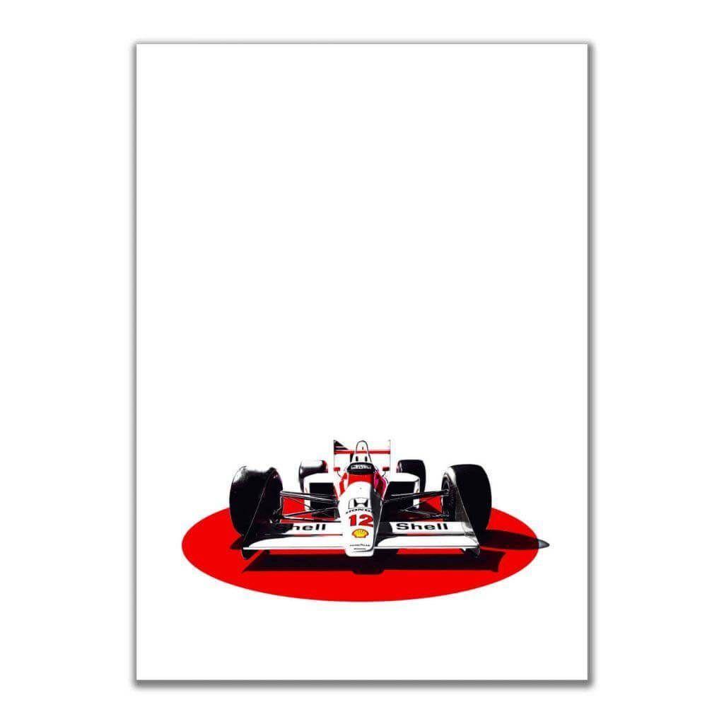 Постеры на стену для подростка с болидом McLaren-Honda MP4/4 F1