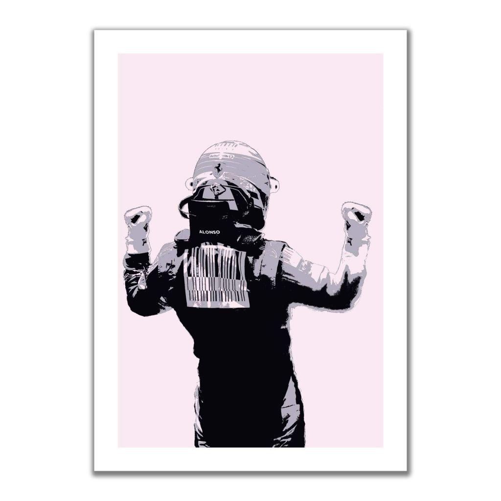 """Fernando Alonso - Scuderia Ferrari"" - Постеры для декора прихожей"