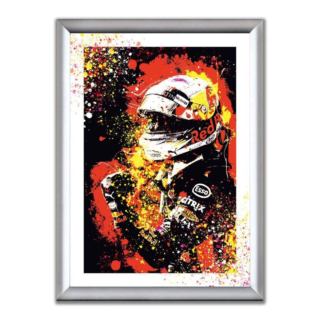 А2 Постер в алюминиевой рамке - Daniel Ricciardo