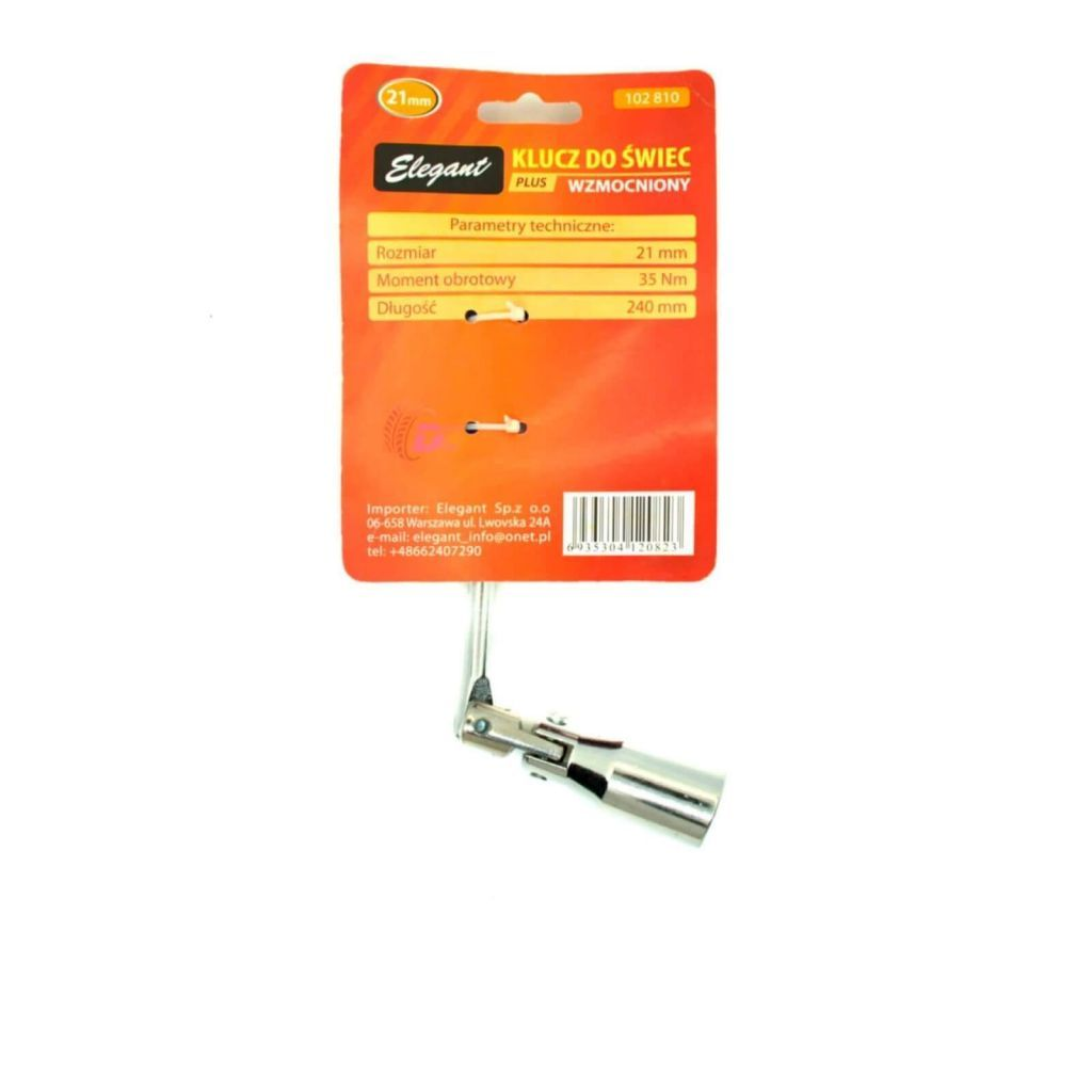 Свечной ключ на шарнирах - Elegant PLUS 21 model 102 810