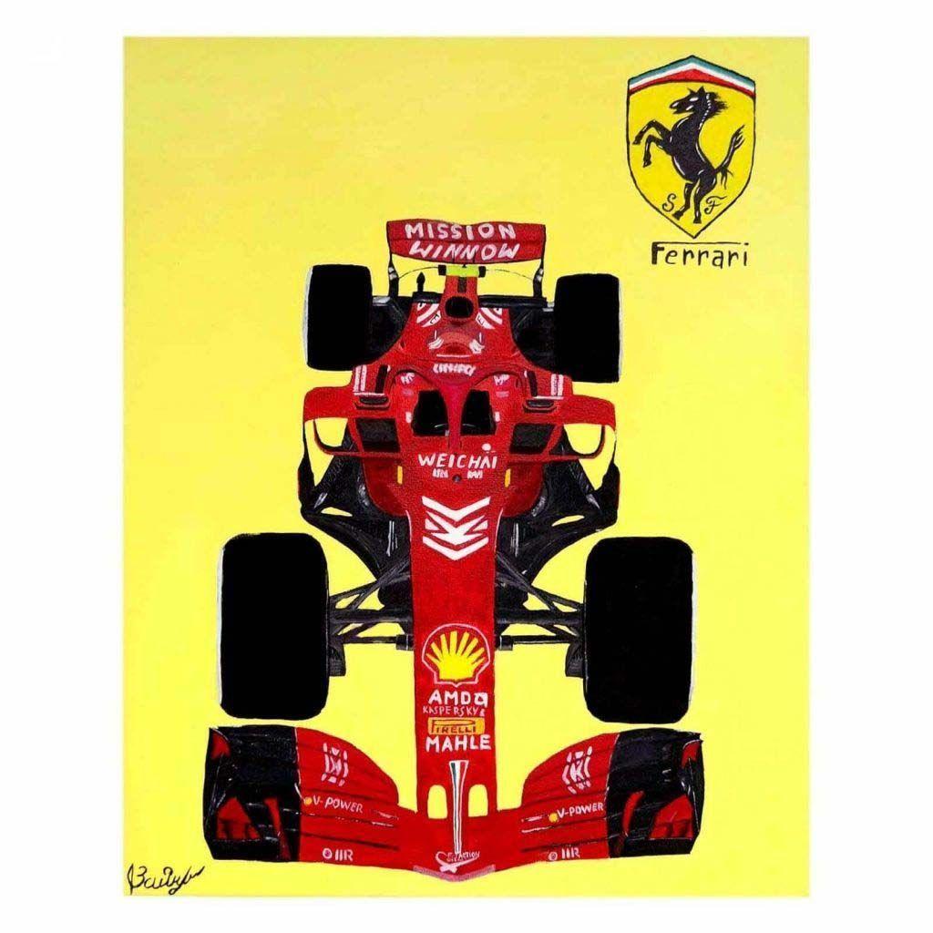 Картина с машиной Ferrari SF71H