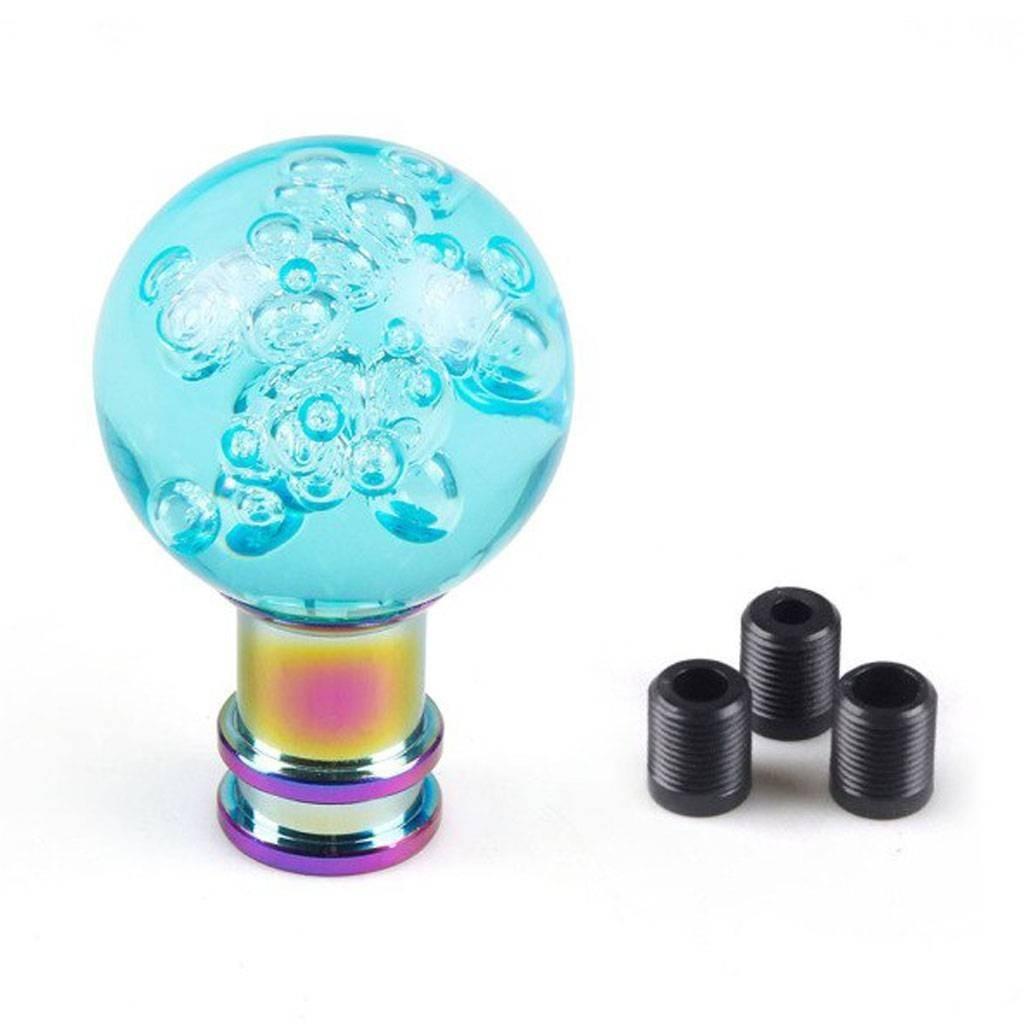 """Декоративная ручка рычага КПП - голубой акриловый шар """"Bubble"""""""