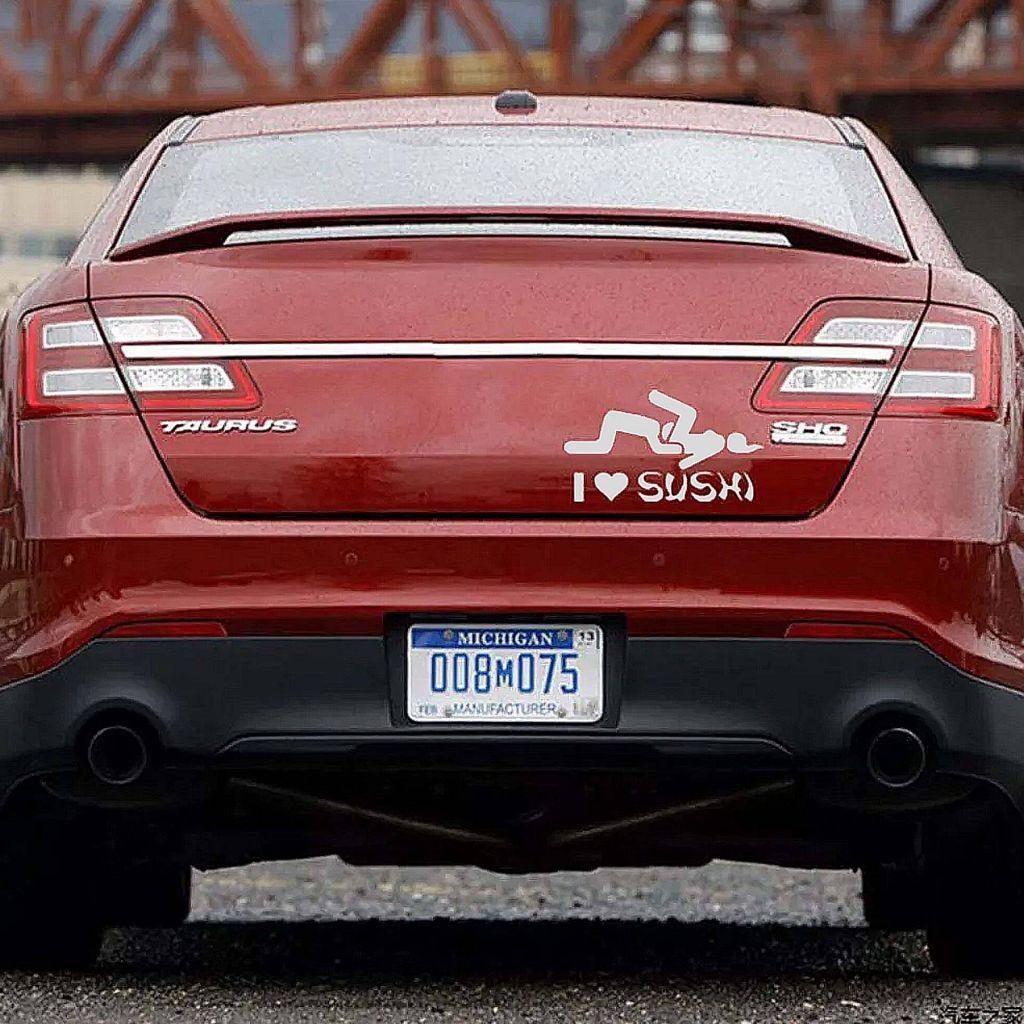 Наклейка на авто - I Love Sushi