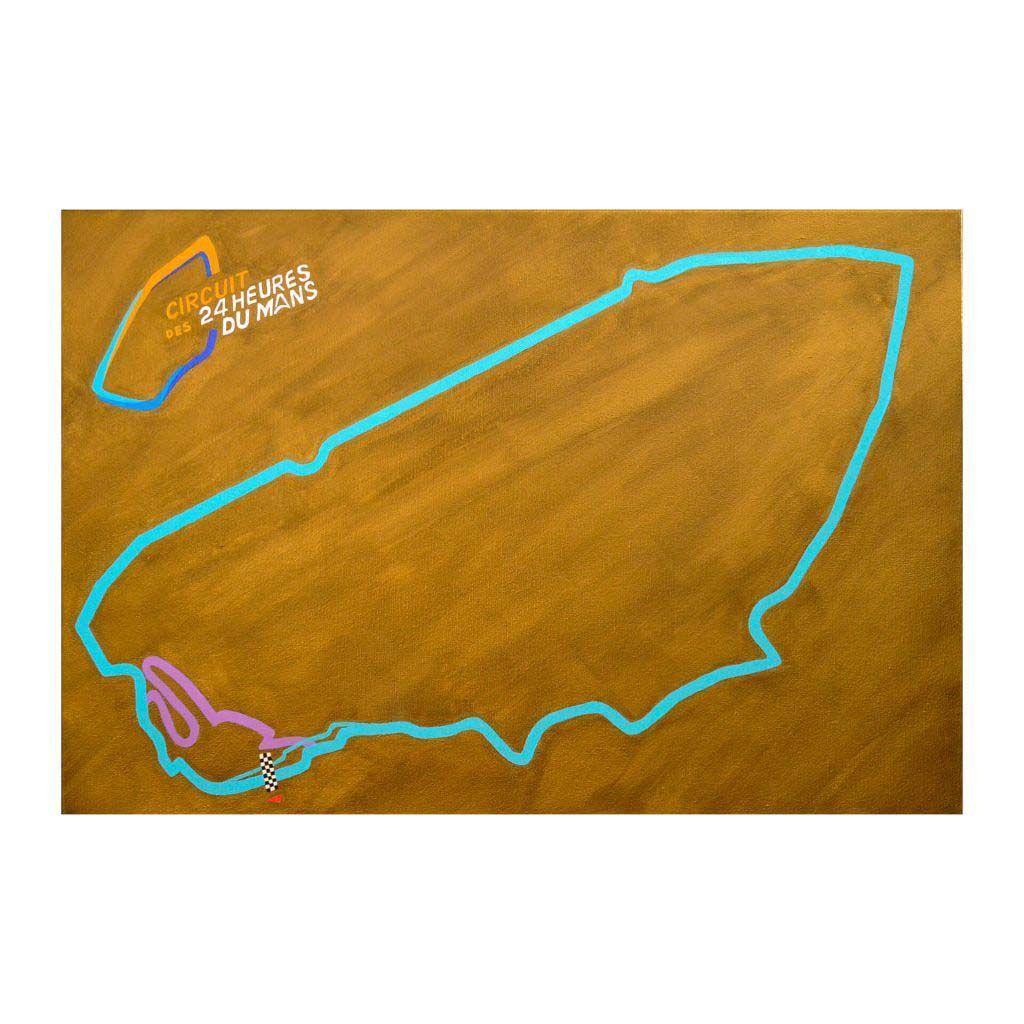 """Картина акрилом - """"Гоночная трасса Сарта"""" (Circuit de la Sarthe)"""