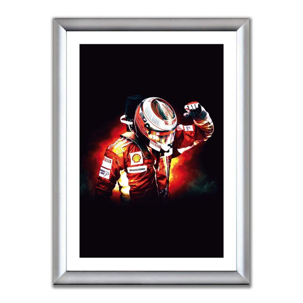 А2 Постер в алюминиевой рамке - Kimi Raikkonen