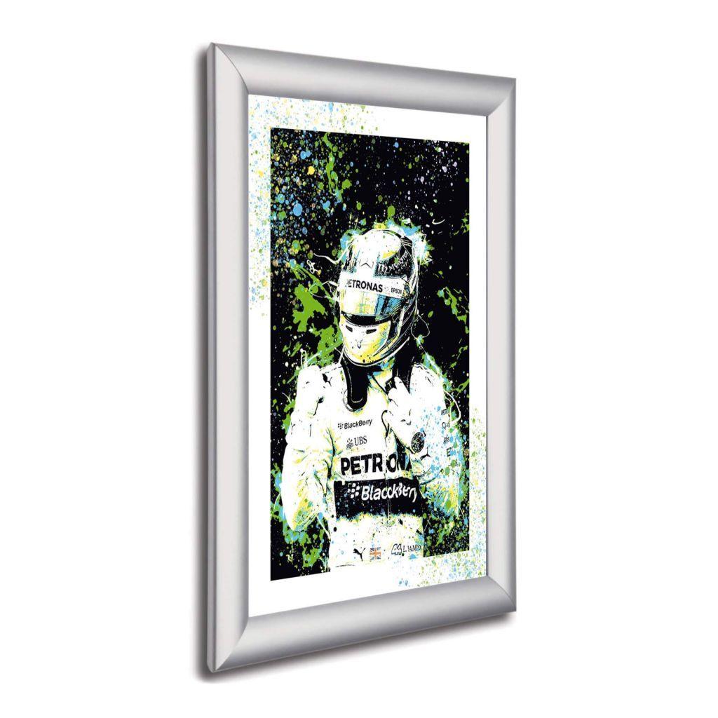 А2 Постер в алюминиевой рамке - Lewis Hamilton - Mercedes AMG Petronas F1 Team